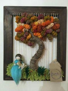 Weaving Art, Tapestry Weaving, Diy And Crafts, Arts And Crafts, Felted Wool Crafts, Felt Fairy, Woven Wall Hanging, Felt Dolls, Crafty Craft