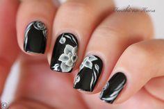 A England – Ophelia w/ 3D flowers - Nature Nails Nail Art by Tenshi no Hana