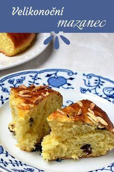 Velikonoční mazanec » MlsnáVařečka.cz Dessert Recipes, Desserts, French Toast, Pie, Breakfast, Food, Tailgate Desserts, Torte, Morning Coffee