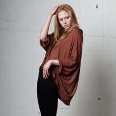 Orion Slit Tee Faded Violet, $59, now featured on Fab.