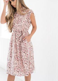 Color Me Pink Floral Ruffle Dress - JessaKae f46f64b17494d