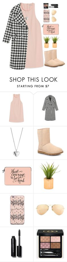 """Look 1 02/23/2016"" by aneetaalex ❤ liked on Polyvore featuring Rebecca Minkoff, UGG Australia, Casetify, Ray-Ban, Bobbi Brown Cosmetics, Gucci, women's clothing, women, female and woman"