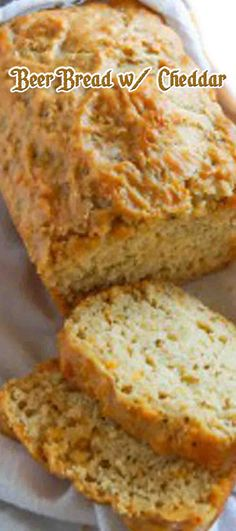 Beer Bread with Cheddar. #CompleteRecipes #recipe #recipes #food #foodgasm #cleaneating #healthyfood #healthy #healthyrecipes #bread