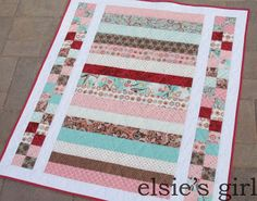 pretty in pink- looks like a quilt that could be cranked out quickly, with pretty results