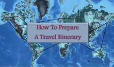 This post is to help prepare travel itinerary for ones trip in order to have all information at one place and organize the travel schedule.
