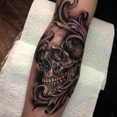 Done today cheers Ryan tattoo tattoos Chicano Tattoos Sleeve, Forarm Tattoos, Forearm Sleeve Tattoos, Tribal Sleeve Tattoos, Forearm Tattoo Design, Skull Tattoo Design, Tattoo Sleeve Designs, Leg Tattoos, Arm Band Tattoo