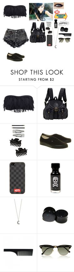 """""""Warped tour outfit #8"""" by xxdanielledamagedxx ❤ liked on Polyvore featuring Accessorize, Jas M.B., Dorothy Perkins, Vans, Charlotte Tilbury, Imm Living and Ray-Ban"""