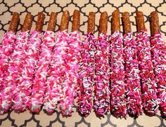 Valentine Decorated Chocolate Dipped Pretzels