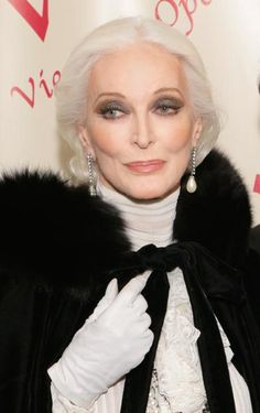 "-Carmen Dell'Orefice, 82, is known as the ""oldest working model"" and began her career at age 15."