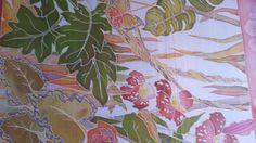 Платок 90х90. батик, краски марабу