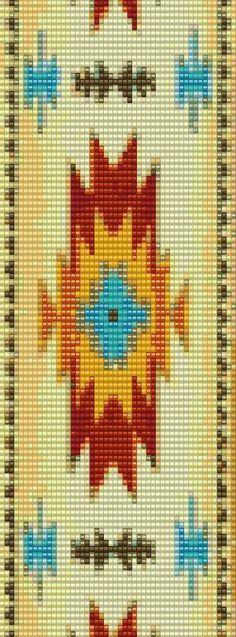 1st American Peyote or Loom Bracelet Beading Pattern for Advanced Beaders Pattern