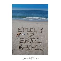 Personalized Wedding Couple Sandwriting Photograph by malibelle, $28.00