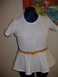 one hour a day: DIY Alice + Olivia Inspired Peplum Top