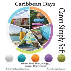 Caron Simply Soft Caribbean Days Color Combinations