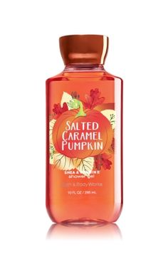Salted Caramel Pumpkin - Shower Gel - Signature Collection - Bath & Body Works - Wash your way to softer, cleaner skin with a rich, bubbly lather bursting with fragrance. Moisturizing Aloe and Vitamin E combine with skin-loving Shea Butter in our most irresistible, beautifully fragranced formula!