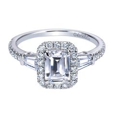 Gabriel & Co. Engagement Rings Diamond Halo 14k White Gold. This is the ring I picked out today at Global Diamonds!