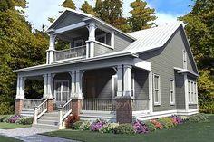 Craftsman Style House Plan - 3 Beds 3 Baths 2296 Sq/Ft Plan #63-380 Front Elevation - Houseplans.com