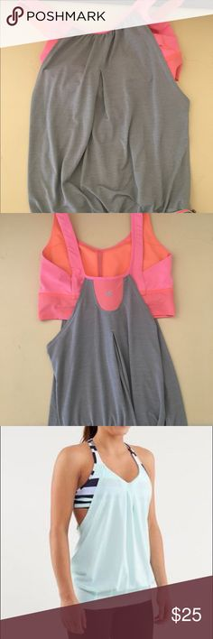 Lululemon tank top! Perfect tank top with built in bra. Added a picture of what they look like on lululemon athletica Tops Tank Tops