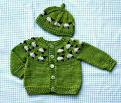 So cute! (Sheep) Cardi for baby & adult