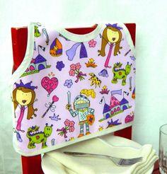 Princess Baby Bib, Fairytale Print, 6 month girl, Baby Shower Gift