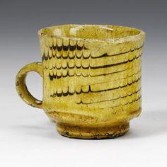 north staffordshire slip combed mug ....1793