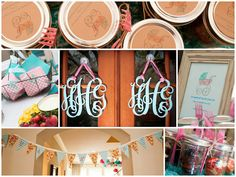 HH Design house baby girl shower.  Custom signage, invitations, and designs.