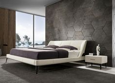 Get inspired and start using these contemporary designs in your cozy bedroom. Leather Living Room Furniture, Black Bedroom Furniture, Luxury Home Furniture, Bed Furniture, Modern Furniture, King Bed Headboard, Headboards For Beds, Black Bedroom Sets, Camas King