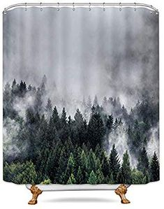 72x72/'/' Bathroom Waterproof Fabric Shower Curtain 12 Hooks Path Creepy Oak Trees