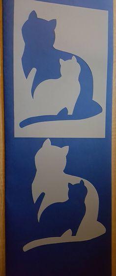 Stencils Cat wall Decals airbrush canvas fabric design stencil