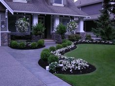 Landscape ideas with flower beds in front of house