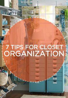 Creative master bedroom closet organization tips and tricks.