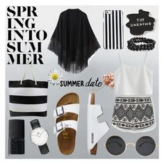 """""""black and white"""" by aneukrfl on Polyvore featuring MANGO, Relaxfeel, TravelSmith, MICHAEL Michael Kors, Daniel Wellington, NARS Cosmetics, Chicwish, Bling Jewelry, white and black"""