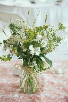 Queen Anne's lace adds beautiful texture when mixed in with other blooms in a bouquet!  | TheKnot.com