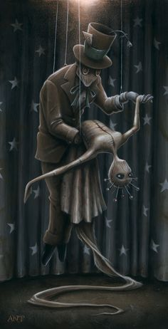 "Made by: Anthony Clarkson , ""Dance of the Dolls""  - (Marionette puppets)"