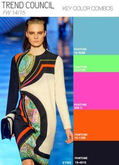 Trend colors combination card for Fall Winter 2014 - 2015 season - Carta combinazione colori di tendenza stagione Autunno Inverno 2014 - 2015