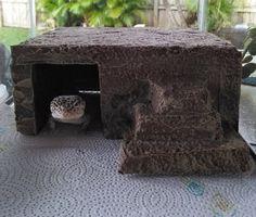 leopard gecko hide  reptile hide  gecko hide  basking by Herphomes