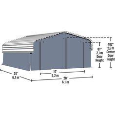 Arrow Carport Enclosure Kit, 20 x 20 ft, Outdoor Carport Canopy Kit (Carport not Included) - Walmart.com - Walmart.com Carport Covers, Carport Canopy, Layered Weave, Canopy Frame, Panel Doors, Storage Solutions, Outdoor Gear, Shed, Floor Plans