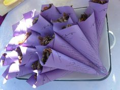Snack Cones with a poem written by couple. Wedding by Estelle Kemp