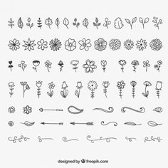 flowers, design, and how to draw image