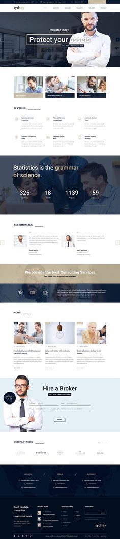Sydney is a modern and basic template suitable for any business #website . Either you have a #Finance, Consulting,…