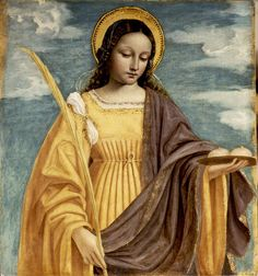 Happy Feast Day of Saint Agatha! One of the most highly venerated virgin martyrs of Christian antiquity, Agatha was put to death during the persecution of Decius in Catania, Sicily, for her steadfast profession of faith. Patron Saints, Catholic Saints, Roman Catholic, Catholic Art, Ste Agathe, Catholic Online, Catholic News, Mystique, Sacred Art