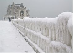 """theseromaniansarecrazy: """" Winter has come to the Black Sea, Constanta, Romania. """" Maybe the most beautiful winter photograph we've ever posted. The casino of Constanta in the winter… Dracula Tv Show, Macedonia, Albania, Montenegro, Wonderful Places, Beautiful Places, Amazing Places, Constanta Romania, Chateau Medieval"""