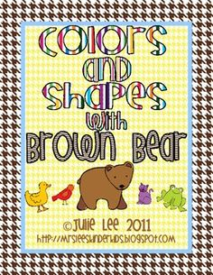 Get ready to have fun teaching colors and shapes with this Brown Bear Unit. This packets has lots of math and literacy activities that are primari. Kindergarten Colors, Preschool Colors, Preschool Literacy, Teaching Kindergarten, Literacy Activities, Teaching Shapes, Have Fun Teaching, Teaching Colors, Teaching Ideas