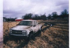 Mudder Chev truck Manitoba Canada farm field