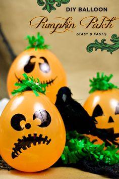 DIY Balloon Pumpkin Patch {Easy & Fast!}