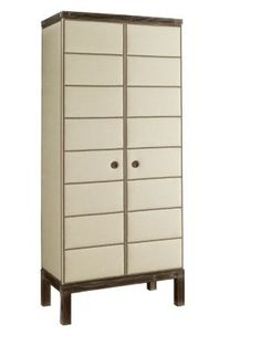 Muse Tall Upholstered Cabinet in Group One Fabrics from the Atelier collection by Hickory Chair Furniture Co.