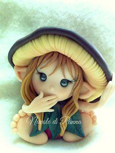 Elfo in Fimo di Luce Di Maggio per Nuvole di Panna. Polymer Art