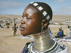 Una mujer africana
