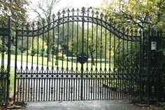 Hambledon wrought iron gates are perfect for any driveway. 0% finance available. Visit Europe's largest Wrought Iron electric gate showroom.