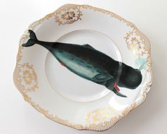 Whale Of A Time cake plate. $45.00, via Etsy. Yvonne Ellen